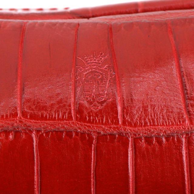 フェリージ Felisi クロコダイル型押し エンボスレザー ペンケース 724/SA RED(レッド)|laglagmarket|06