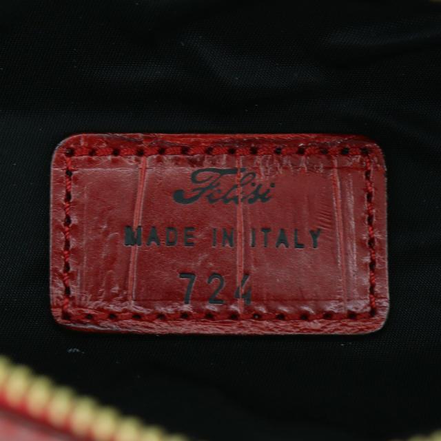 フェリージ Felisi クロコダイル型押し エンボスレザー ペンケース 724/SA RED(レッド)|laglagmarket|09