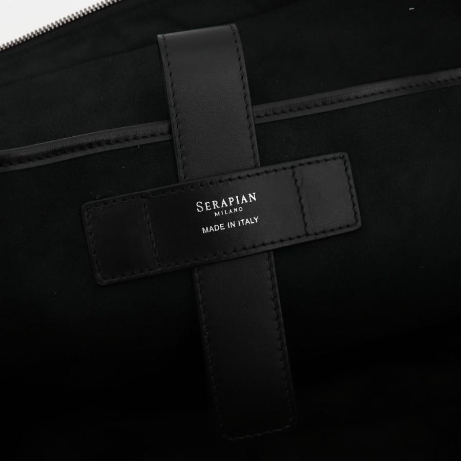 セラピアン SERAPIAN PVC型押し ブリーフケース SLIM BRIEFCASE Stepan STEP6929-M40 CG2 Black/Eclipse Black(ブラック)|laglagmarket|11