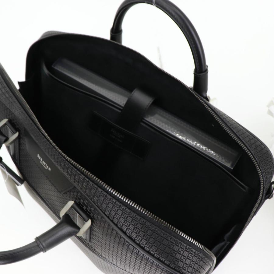 セラピアン SERAPIAN PVC型押し ブリーフケース SLIM BRIEFCASE Stepan STEP6929-M40 CG2 Black/Eclipse Black(ブラック)|laglagmarket|12