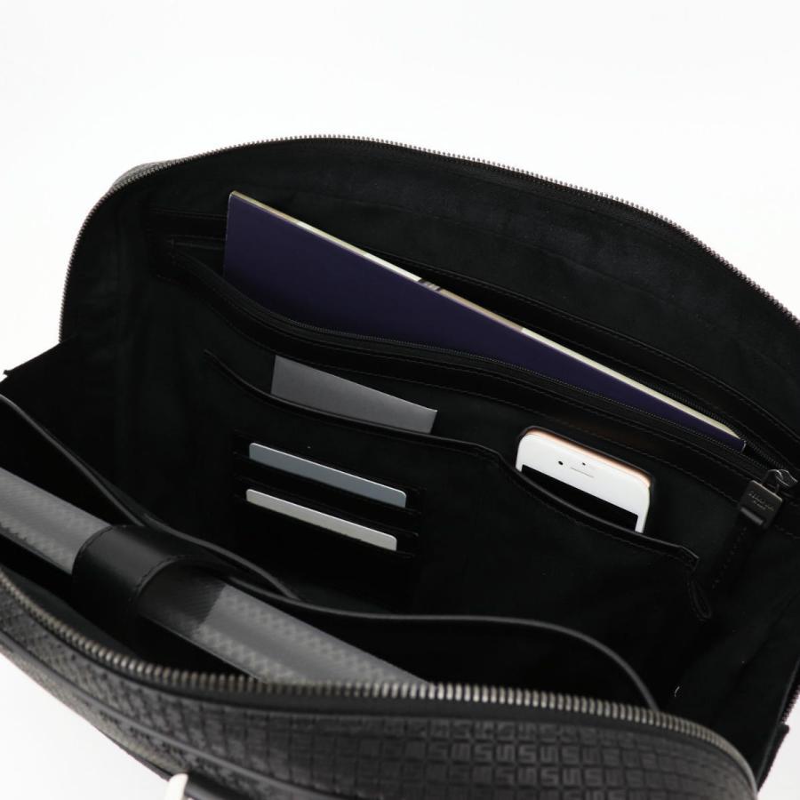 セラピアン SERAPIAN PVC型押し ブリーフケース SLIM BRIEFCASE Stepan STEP6929-M40 CG2 Black/Eclipse Black(ブラック)|laglagmarket|14