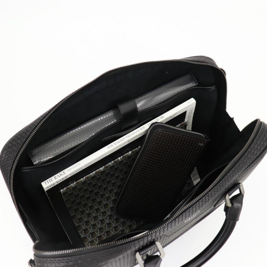 セラピアン SERAPIAN PVC型押し ブリーフケース SLIM BRIEFCASE Stepan STEP6929-M40 CG2 Black/Eclipse Black(ブラック)|laglagmarket|15