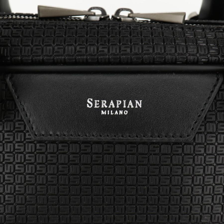 セラピアン SERAPIAN PVC型押し ブリーフケース SLIM BRIEFCASE Stepan STEP6929-M40 CG2 Black/Eclipse Black(ブラック)|laglagmarket|07