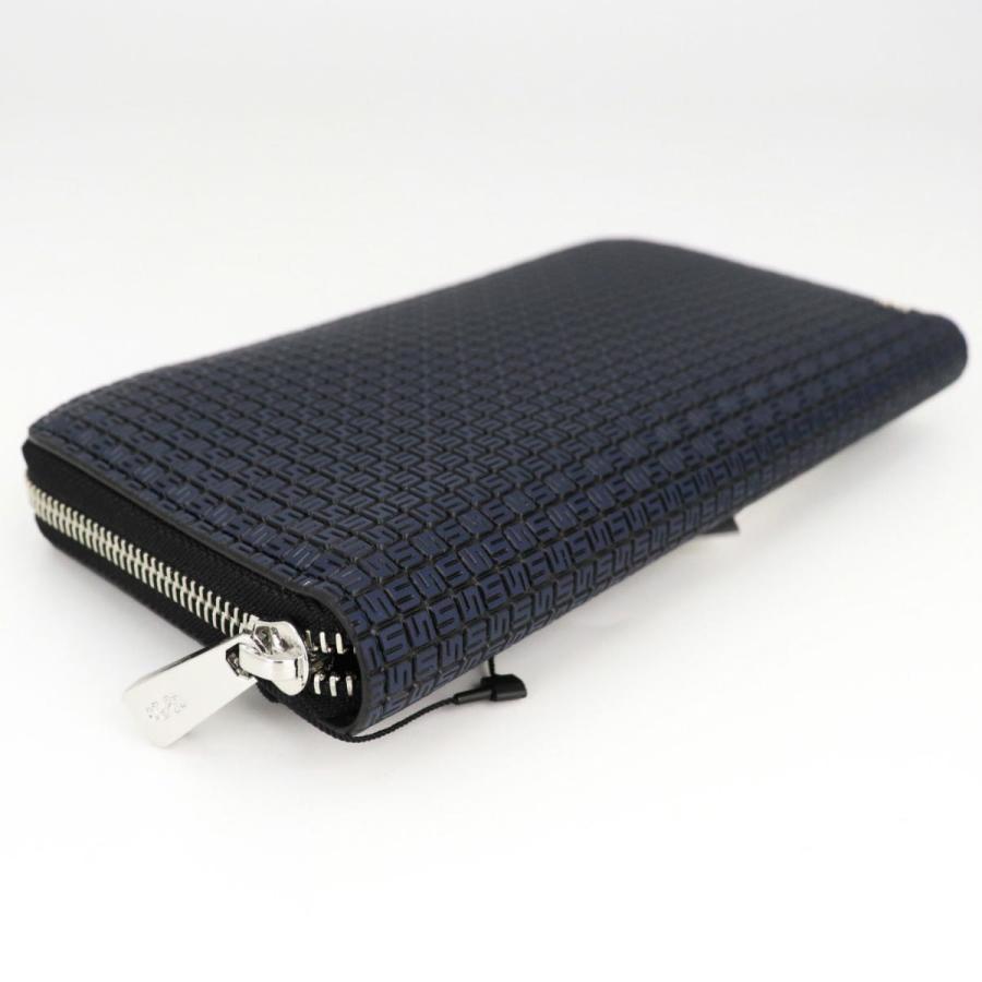 セラピアン SERAPIAN PVC型押し ラウンドジップ長財布 Stepan STEP7030-M19 C20 Ocean Blue/Black(ネイビー)|laglagmarket|02