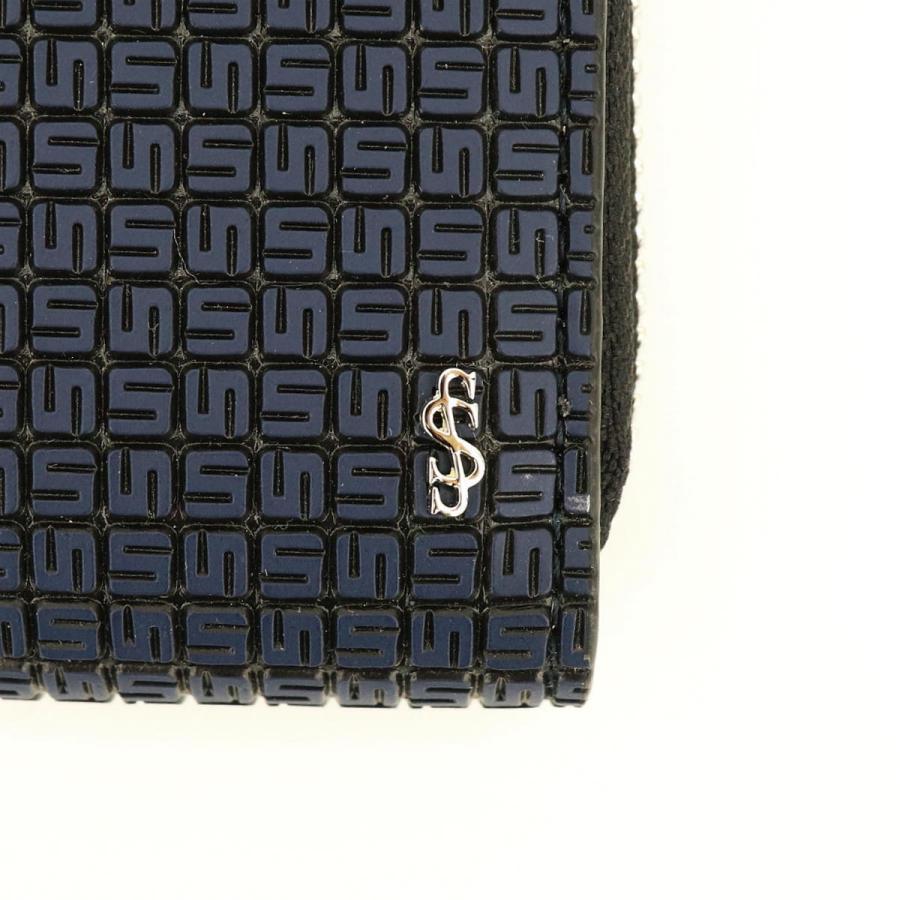 セラピアン SERAPIAN PVC型押し ラウンドジップ長財布 Stepan STEP7030-M19 C20 Ocean Blue/Black(ネイビー)|laglagmarket|04