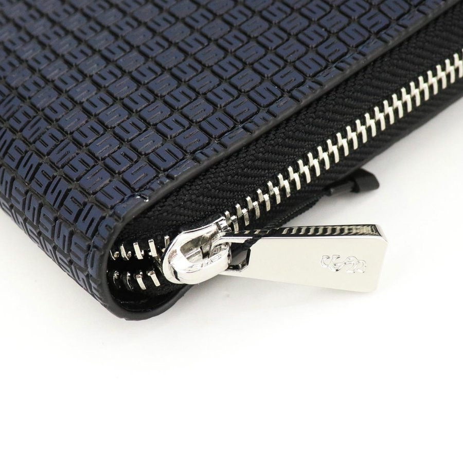 セラピアン SERAPIAN PVC型押し ラウンドジップ長財布 Stepan STEP7030-M19 C20 Ocean Blue/Black(ネイビー)|laglagmarket|05