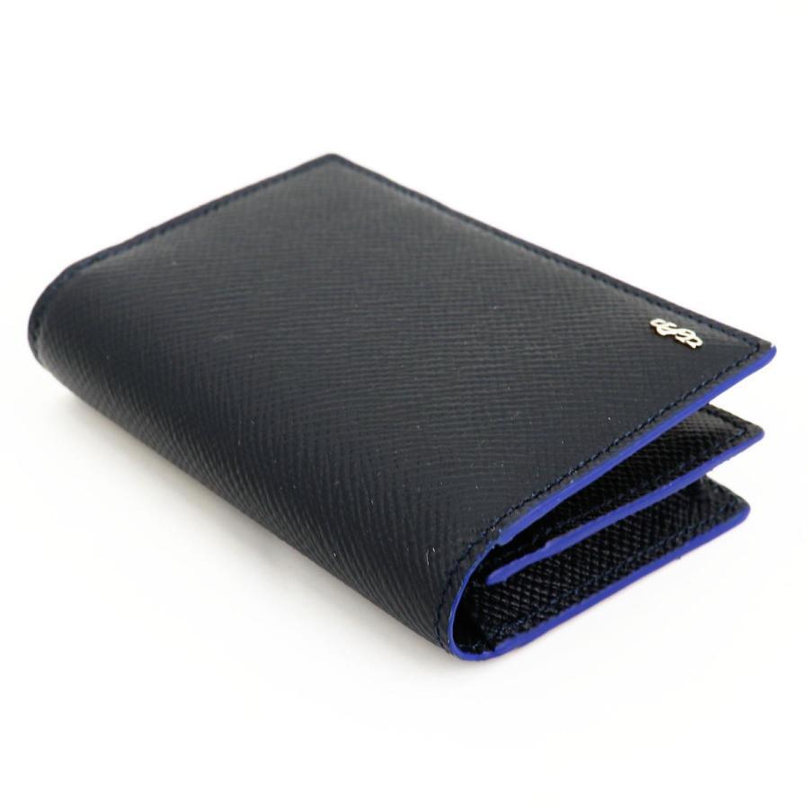 セラピアン SERAPIAN 型押しレザー カードケース 名刺入れ BUSINESS CARD CASE EVOLUZIONE EVOL6242-M08 149 Cobalt Blue(ネイビー)|laglagmarket|02