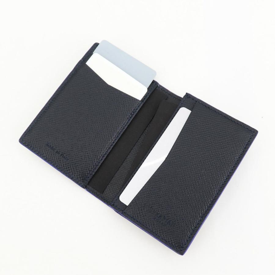 セラピアン SERAPIAN 型押しレザー カードケース 名刺入れ BUSINESS CARD CASE EVOLUZIONE EVOL6242-M08 149 Cobalt Blue(ネイビー)|laglagmarket|11