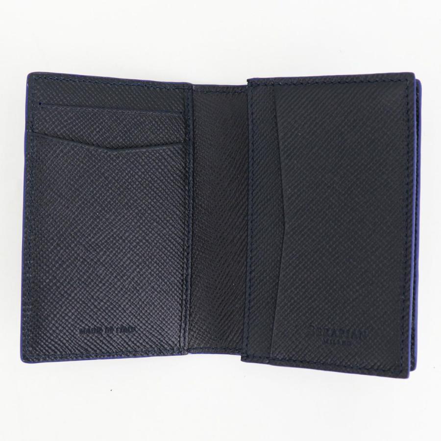 セラピアン SERAPIAN 型押しレザー カードケース 名刺入れ BUSINESS CARD CASE EVOLUZIONE EVOL6242-M08 149 Cobalt Blue(ネイビー)|laglagmarket|05