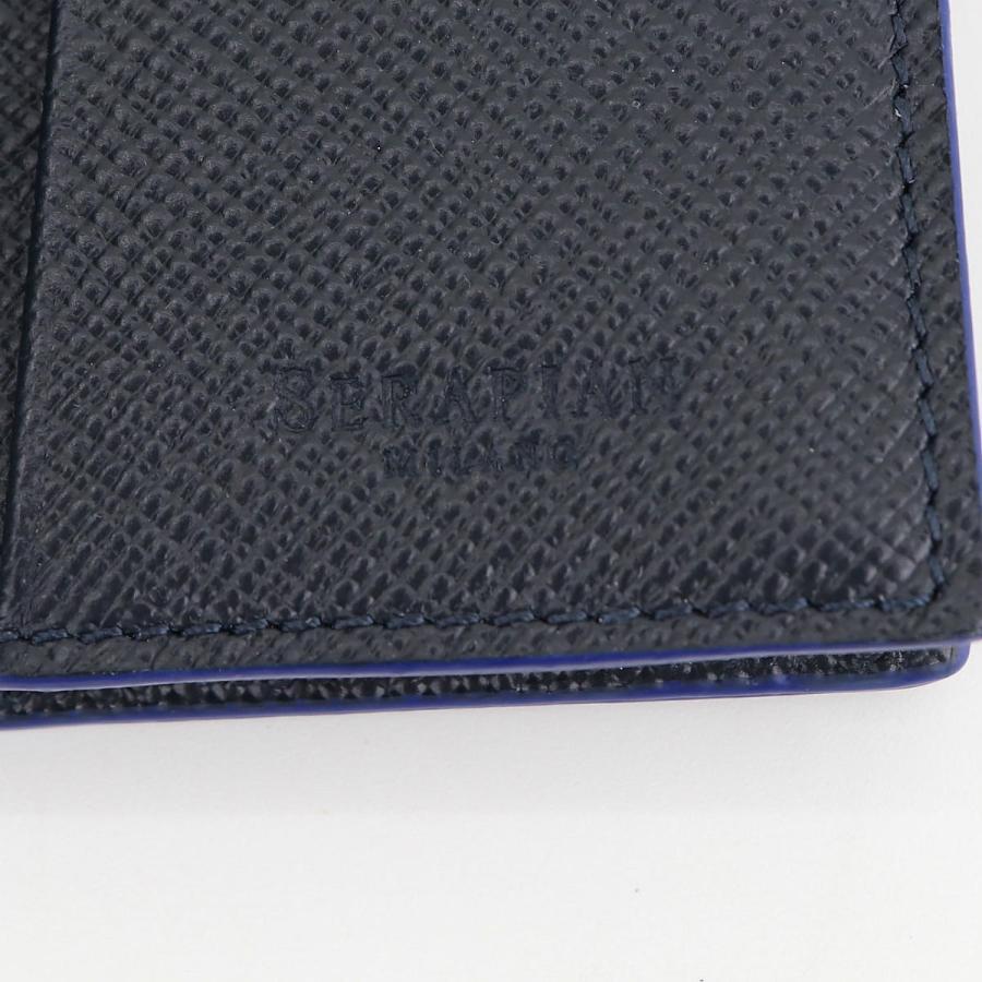 セラピアン SERAPIAN 型押しレザー カードケース 名刺入れ BUSINESS CARD CASE EVOLUZIONE EVOL6242-M08 149 Cobalt Blue(ネイビー)|laglagmarket|06
