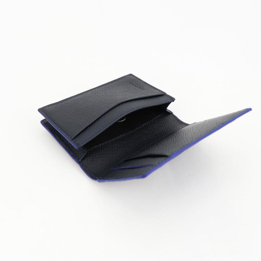 セラピアン SERAPIAN 型押しレザー カードケース 名刺入れ BUSINESS CARD CASE EVOLUZIONE EVOL6242-M08 149 Cobalt Blue(ネイビー)|laglagmarket|07