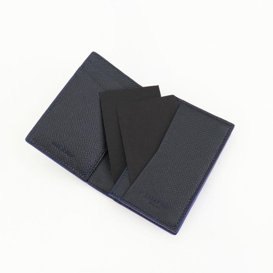 セラピアン SERAPIAN 型押しレザー カードケース 名刺入れ BUSINESS CARD CASE EVOLUZIONE EVOL6242-M08 149 Cobalt Blue(ネイビー)|laglagmarket|08