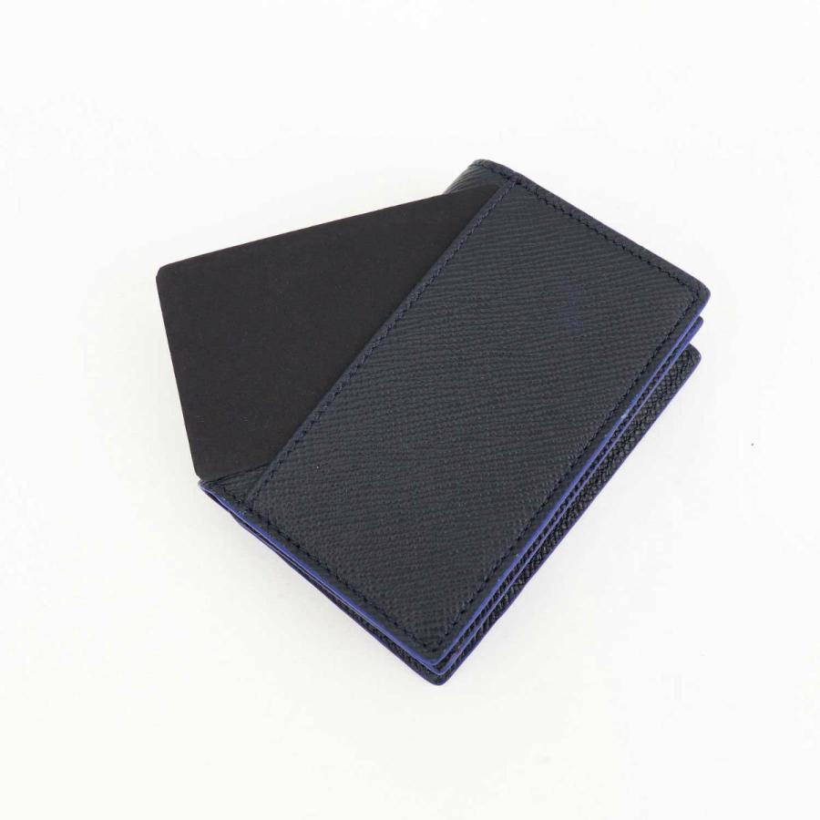 セラピアン SERAPIAN 型押しレザー カードケース 名刺入れ BUSINESS CARD CASE EVOLUZIONE EVOL6242-M08 149 Cobalt Blue(ネイビー)|laglagmarket|10