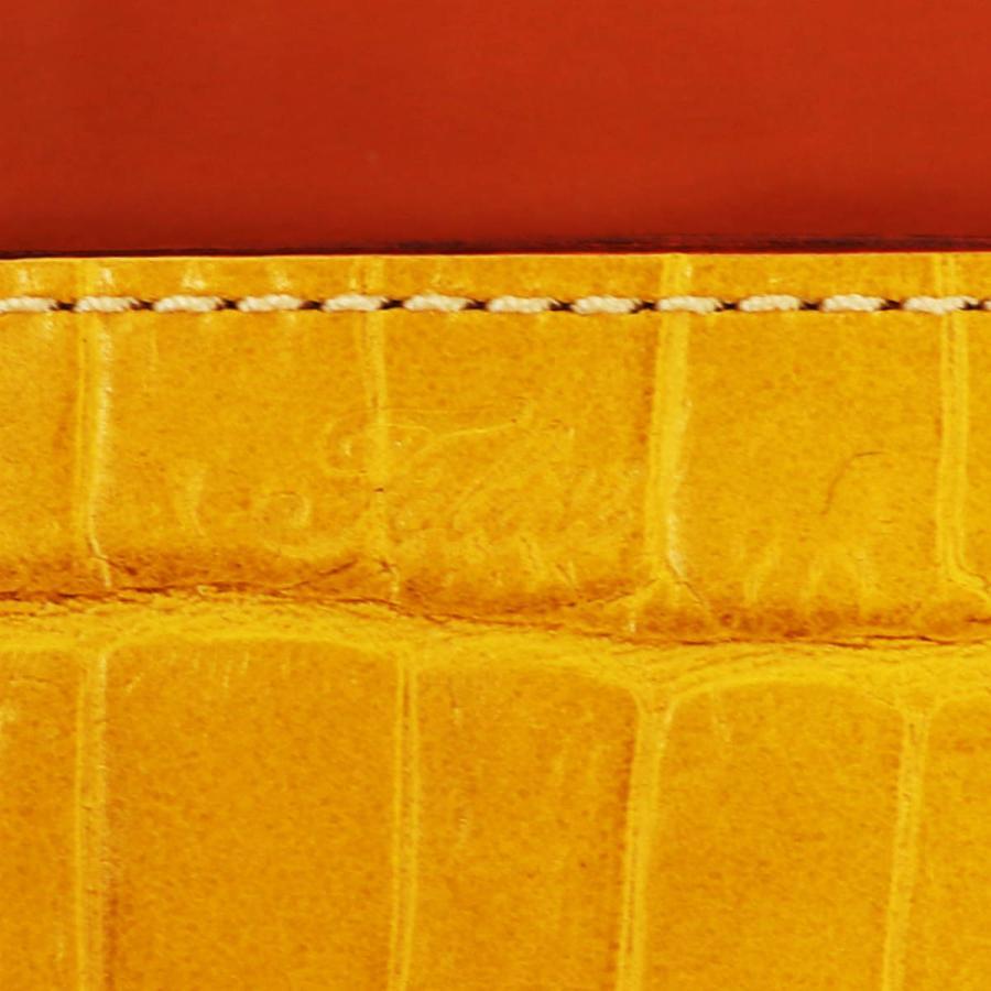 フェリージ Felisi クロコダイル型押し エンボスレザー コロコロ折財布 1041/SA YELLOW(イエロー)|laglagmarket|08