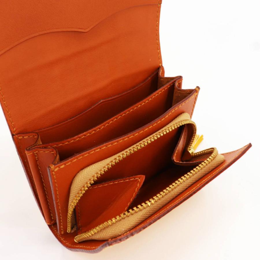 フェリージ Felisi クロコダイル型押し エンボスレザー コロコロ折財布 1041/SA YELLOW(イエロー)|laglagmarket|10