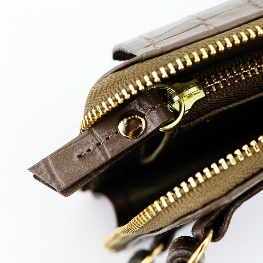 ヴィオラドーロ VIOLAd'ORO レディース クロコ型押しレザー スマートフォンポシェット ADRIA VLD アドリア V-1336 GREIGE(ベージュ)|laglagmarket|12