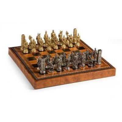 ハンニバル ローマン チェス セット LEATHERETTE キャビネット ボード