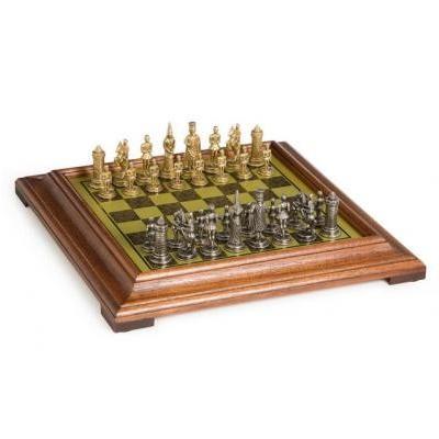 ゴシック ファンタジー メタル チェス セット 1 3/16 インチ マス PEDESTAL ボード