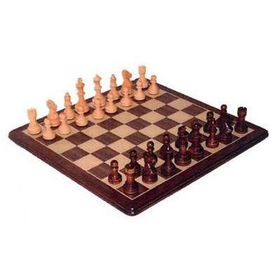 ポリッシュド ウォルナット Staunton チェス セット【15インチ】