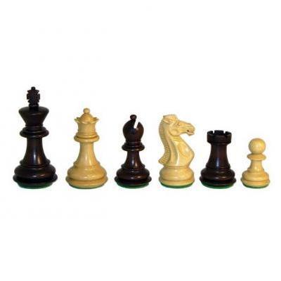 ウォルナット Stained ボックスウッド トリプル ウェイテッド チェス ピース【3.5インチ】