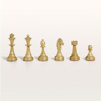 フィレンツェ人の Brass & シルバー チェス ピース【2インチ】