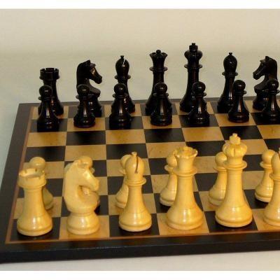 スタジオ アン カールトン ブラック チェスセット ブラック&バーズアイ メープル ボード 【17.25インチ】