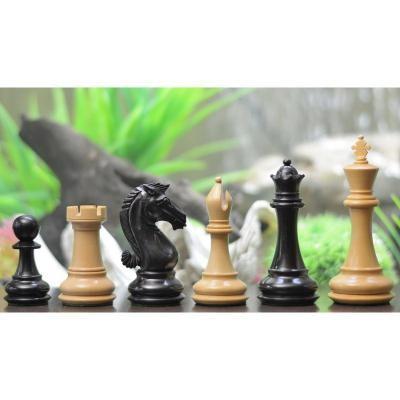 スタントン・シリーズ エボニー&ボックスウッド Double Weighted チェスピース【4.3インチ】