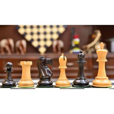 エボニー&ボックスウッド 1925-1937 スタントンパターン チェスピース【4.1インチ】