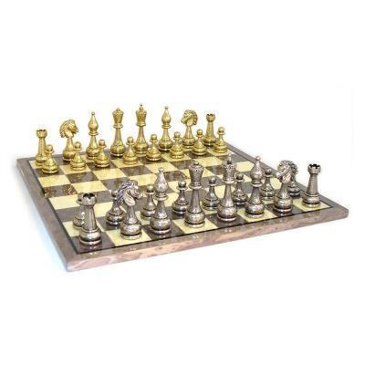 メタル スタントン チェスセット グレー ブライアー ボード