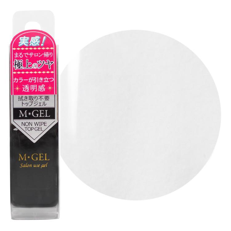 MGEL エムジェル ノンワイプトップジェル C727 エムプティ Mpetitjapan 拭き取り不要 LED UV 対応 セルフネイル ジェルネイル ポリッシュ 透明 クリア lalume 04