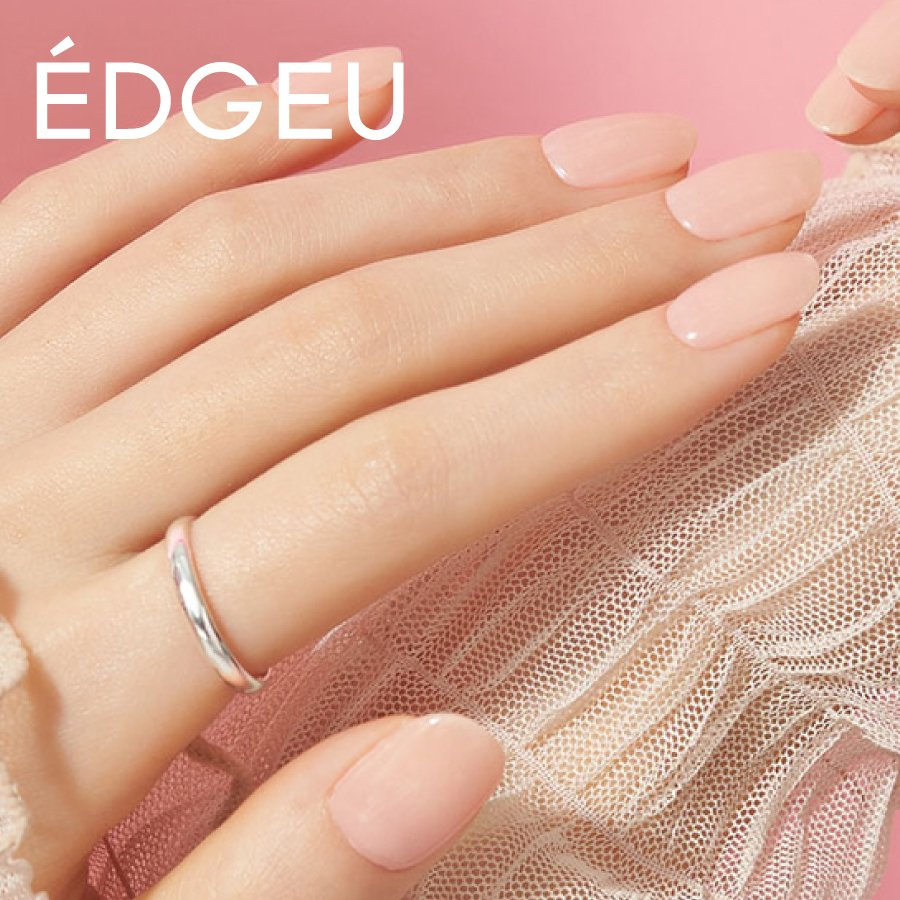 EDGEU エッジユー ジェルネイルシール 硬化 貼って固める セルフネイル ネイルステッカー END109 MUSLIN PINK|lalume