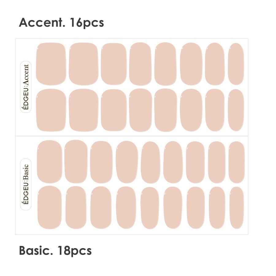 EDGEU エッジユー ジェルネイルシール 硬化 貼って固める セルフネイル ネイルステッカー END109 MUSLIN PINK|lalume|07