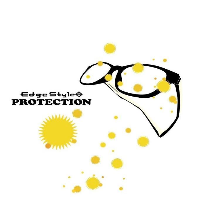 エッジスタイル プロテクション 花粉メガネ メガネの上から 花粉症対策 UVカット 紫外線カット くもり止め加工レンズ 曇り止め 女性用 lalume 04