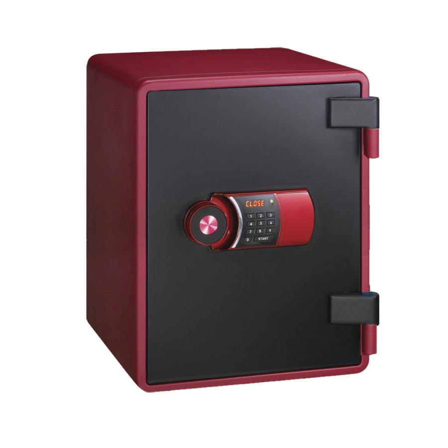 エーコー 小型家庭用耐火金庫 YES COLOR 年間定番 SAFE メーカー直送 搬入設置サービス YES-031DRD 代引不可 テンキー式 国内正規品