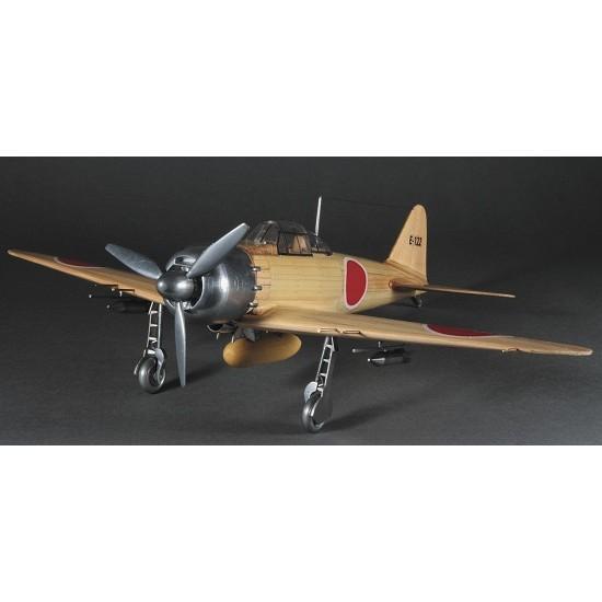 ウッディジョー 木製飛行機模型 「1/24 零戦」 零式艦上戦闘機 52丙型 レーザーカット加工