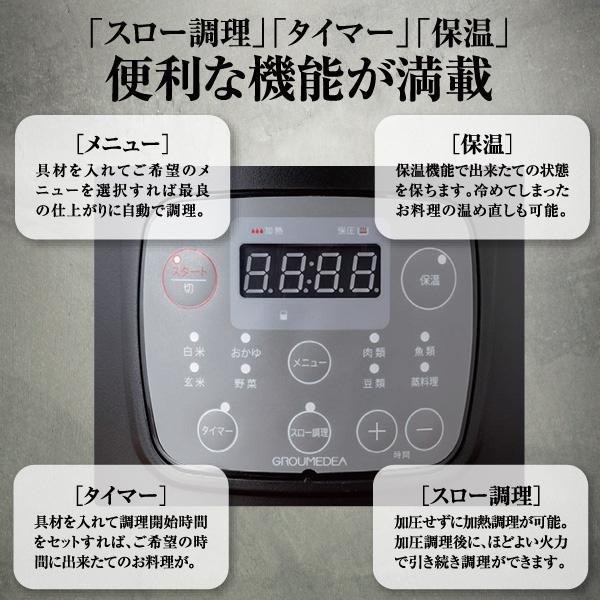 ユアサ 電気圧力鍋 YBW20-70W lamd 03