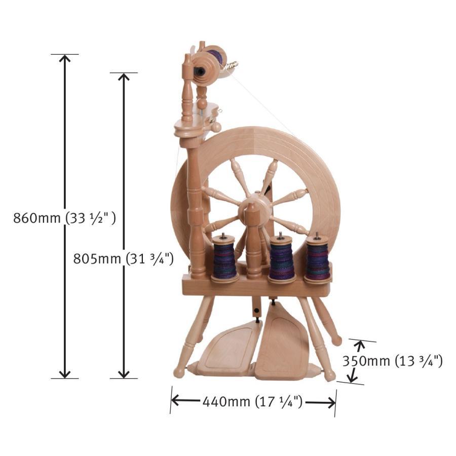 アシュフォード トラベラー紡毛機 白木 組立キット <紡ぎ 紡ぎ車 ashford>|lamerr|02