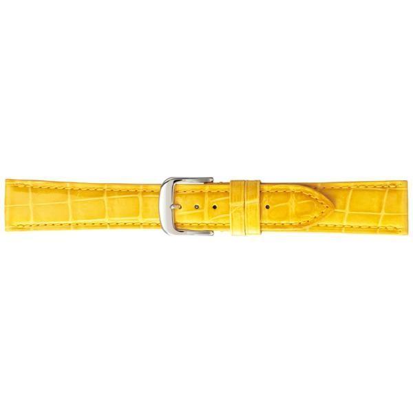 出産祝い BAMBI バンビ 時計バンド グレーシャス ワニ革(クロコダイル) イエロー BWA005YP(同梱), プロショップ太陽 dec5ac64