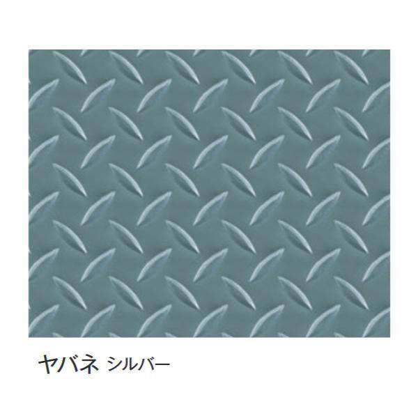 富双合成 ビニールマット(置き敷き専用) 約92cm幅×20m巻 ヤバネ(シルバー)(代引き・同梱不可)