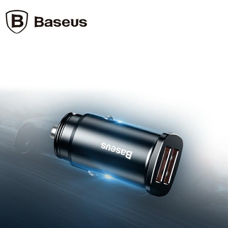Baseus ベースアス カーチャージャー シガーソケット 30W Quick Charge 3.0 CCALL-DS01車載充電器 急速充電 USB lamp 09