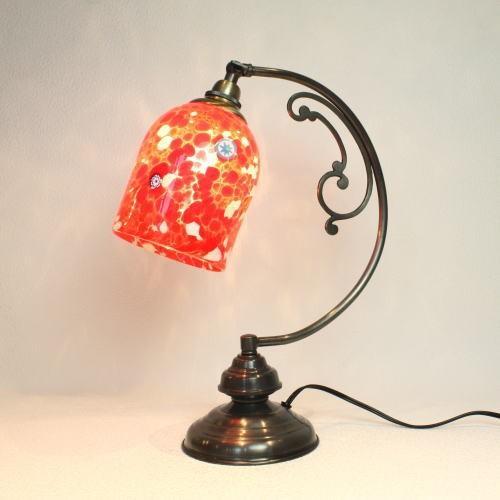 テーブルランプ 卓上ランプ ベネチアングラス ベネチアンガラス ガラス イタリア製 dd10ay-pasta2-白い-赤