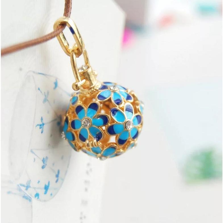 紐が可愛いお花のアロマペンダントネックレス アロマネックレス 白 黒 青 ピンク lanaaromashop 09