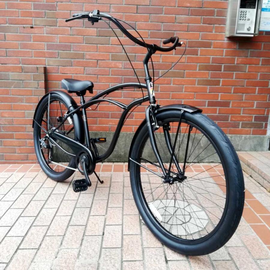 自転車 RAINBOW PCH101 29er-8D DARTH-VADER レインボー ビーチクルーザー 29インチ 8段変速付 おしゃれ 通勤 通学 メンズ レディース|lanai-makai|02