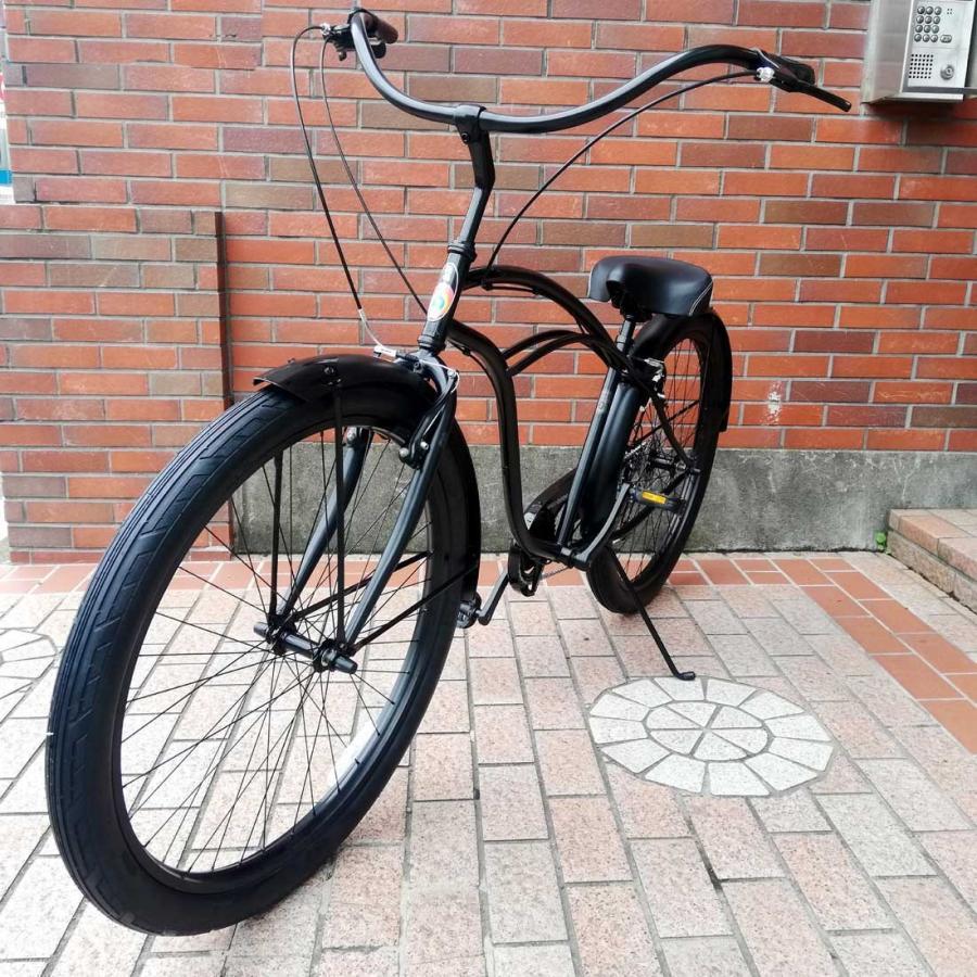 自転車 RAINBOW PCH101 29er-8D DARTH-VADER レインボー ビーチクルーザー 29インチ 8段変速付 おしゃれ 通勤 通学 メンズ レディース|lanai-makai|04