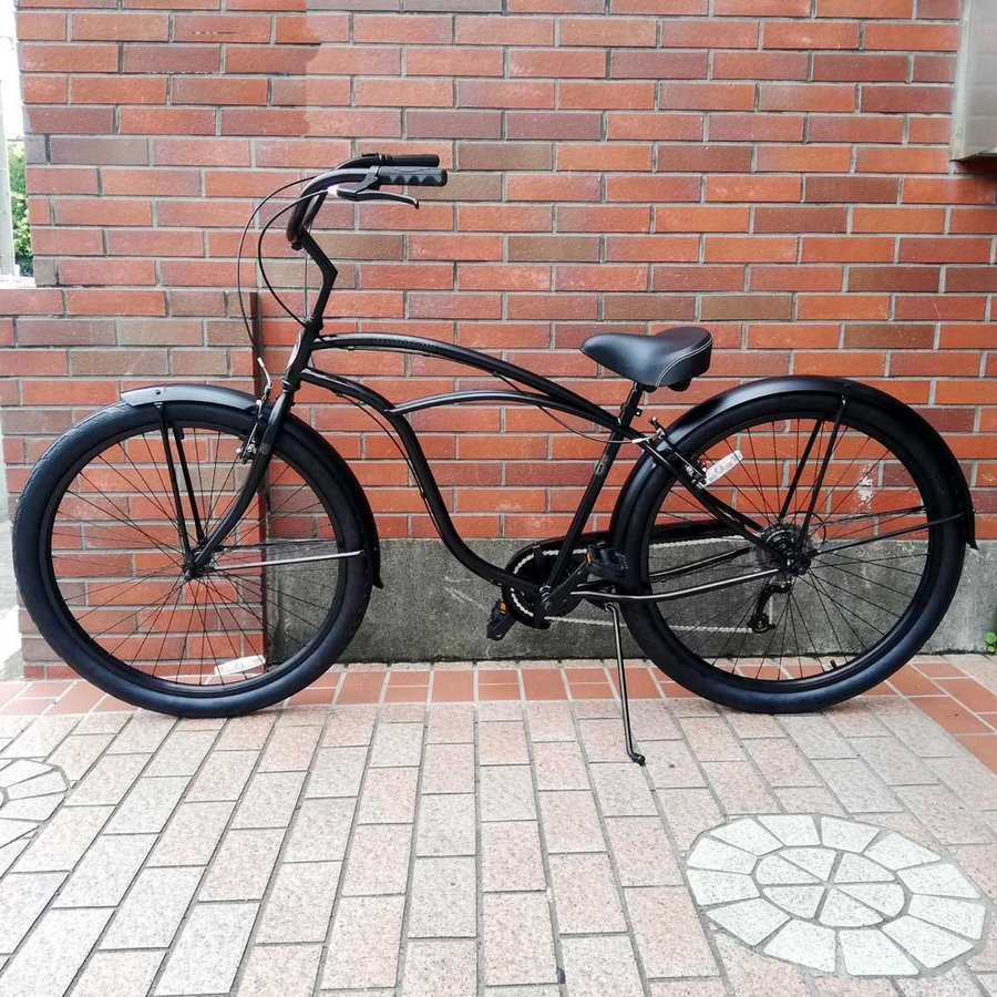 自転車 RAINBOW PCH101 29er-8D DARTH-VADER レインボー ビーチクルーザー 29インチ 8段変速付 おしゃれ 通勤 通学 メンズ レディース|lanai-makai|05