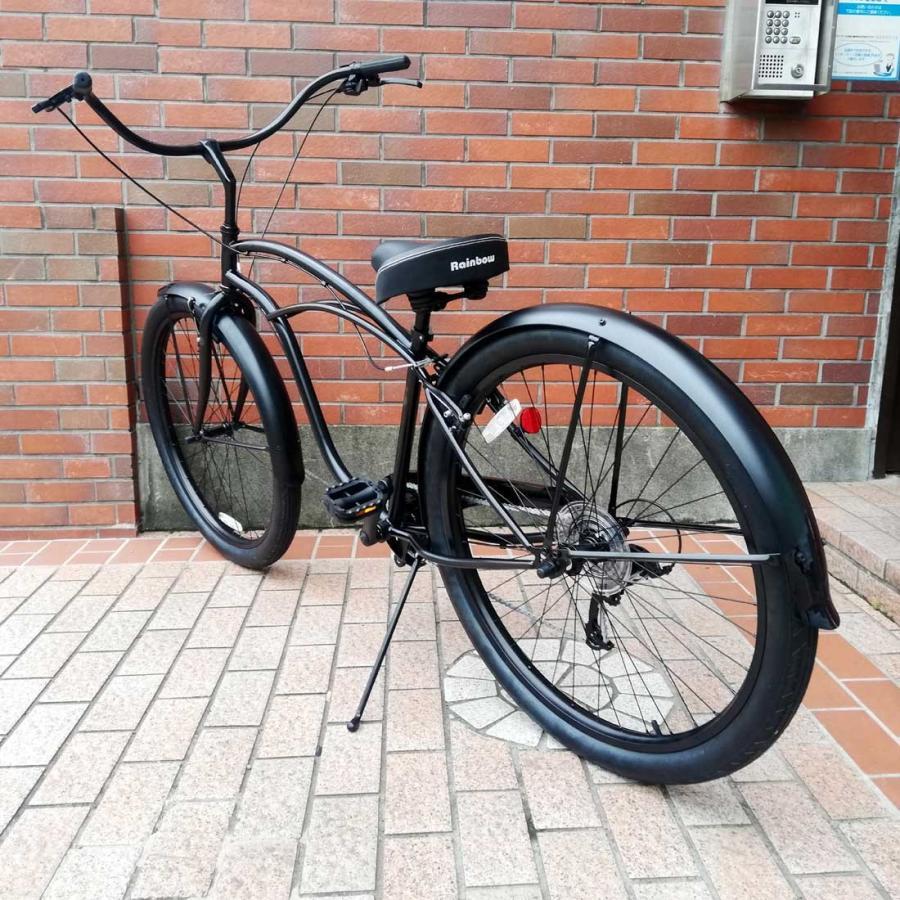 自転車 RAINBOW PCH101 29er-8D DARTH-VADER レインボー ビーチクルーザー 29インチ 8段変速付 おしゃれ 通勤 通学 メンズ レディース|lanai-makai|06