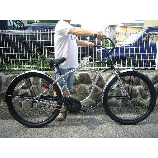自転車 RAINBOW PCH101 29er クロームポリッシュ レインボー ビーチクルーザー 29インチ 8段変速付 おしゃれ 通勤 通学 メンズ レディース|lanai-makai|04