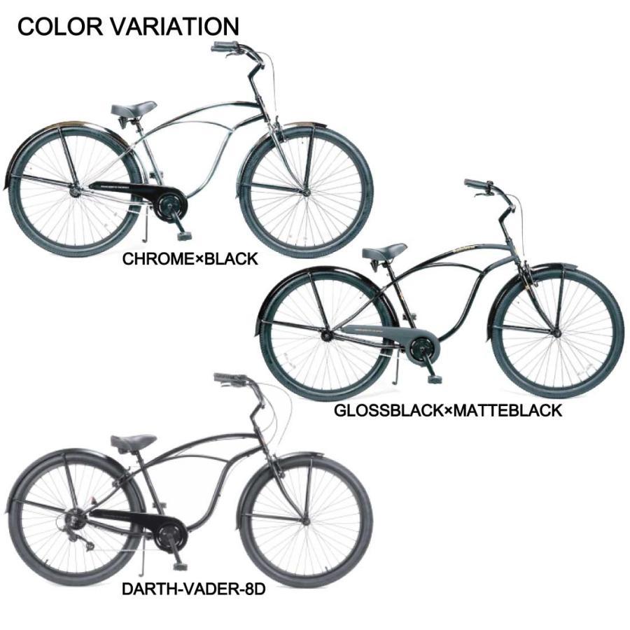 自転車 RAINBOW PCH101 29er グロスブラック×マットブラック レインボー ビーチクルーザー 29インチ 8段変速付 おしゃれ 通勤 通学 メンズ レディース lanai-makai 16