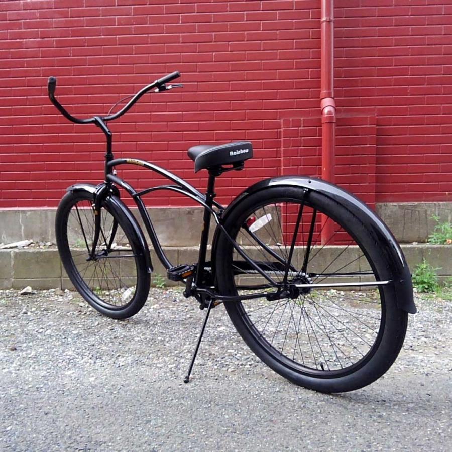 自転車 RAINBOW PCH101 29er グロスブラック×マットブラック レインボー ビーチクルーザー 29インチ 8段変速付 おしゃれ 通勤 通学 メンズ レディース lanai-makai 06