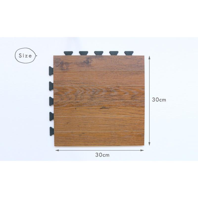 フロアタイル フローリングタイル 30×30cm 30cm角 特殊硬化紙  リフォーム 1枚入り 0W133|landmark|03